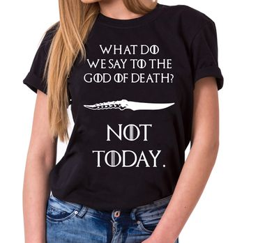 Not Today III - Women's T-Shirt Crewneck Targaryen  thrones game of stark lannister baratheon Daenerys khaleesi tv blu-ray dvd  – Bild 1
