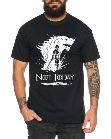 Not Today II - Men's T-Shirt Targaryen  thrones game of stark lannister baratheon Daenerys khaleesi tv blu-ray dvd – Bild 1