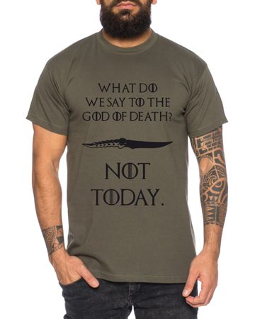 Not Today III - Men's T-Shirt Targaryen  thrones game of stark lannister baratheon Daenerys khaleesi tv blu-ray dvd – Bild 3
