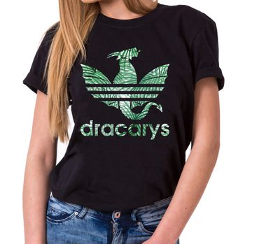 Dracarys Greta - T-Shirt Damen Targaryen  thrones game of stark lannister baratheon Daenerys khaleesi tv blu-ray dvd  – Bild 2