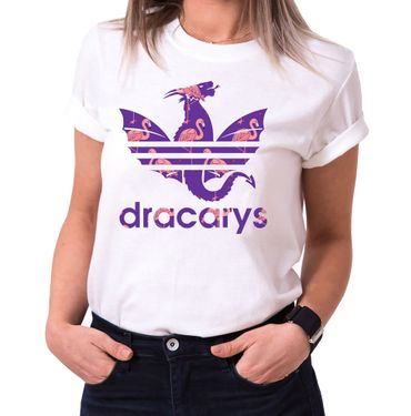 Dracarys Viola - Women's T-Shirt Crewneck Targaryen  thrones game of stark lannister baratheon Daenerys khaleesi tv blu-ray dvd