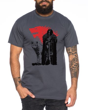Jon Wolf - Herren T-Shirt Targaryen  thrones game of stark lannister baratheon Daenerys khaleesi tv blu-ray dvd – Bild 3