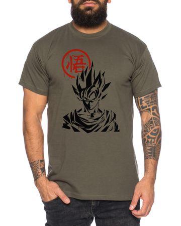 Goku Front - Men's T-Shirt Son Ruffy Luffy Naruto Saitama One Dragon Master Goku Ball Vegeta Turtle Roshi Piece Golds Db – Bild 2