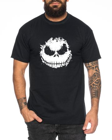 Nightmare  - Herren T-Shirt Munch Jack Skellington schrei Christmas Before Weihnachten Edward  – Bild 2