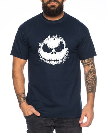 Nightmare  - Herren T-Shirt Munch Jack Skellington schrei Christmas Before Weihnachten Edward  – Bild 1