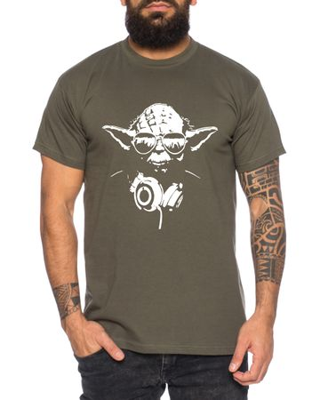 Yoda - Herren T-Shirt DJ YODA Jedi Ritter The Empire Turntables Music Rave House Trance Techno Geek – Bild 3