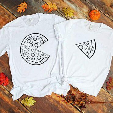 Pizza - Partner T-Shirt Ladies and Gentlemen - 2 Pieces - Couple Shirt Gift Set for Lovers - Partner Gifts - Best Birthday Gift - Partner Look – Bild 4