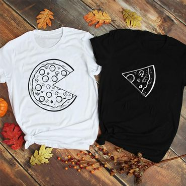 Pizza - Partner T-Shirt Ladies and Gentlemen - 2 Pieces - Couple Shirt Gift Set for Lovers - Partner Gifts - Best Birthday Gift - Partner Look – Bild 3