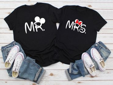 Mr Mrs Mouse - Partner T-Shirt Ladies and Gentlemen - 2 Pieces - Couple Shirt Gift Set for Lovers - Partner Gifts - Best Birthday Gift - Partner Look – Bild 2