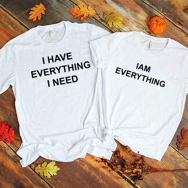 Everything - Partner T-Shirt Ladies and Gentlemen - 2 Pieces - Couple Shirt Gift Set for Lovers - Partner Gifts - Best Birthday Gift - Partner Look – Bild 4