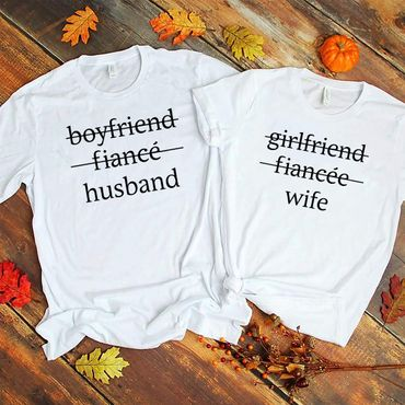 Husband Wife - Partner T-Shirt Ladies and Gentlemen - 2 Pieces - Couple Shirt Gift Set for Lovers - Partner Gifts - Best Birthday Gift - Partner Look – Bild 4