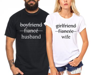 Husband Wife - Partner T-Shirt Ladies and Gentlemen - 2 Pieces - Couple Shirt Gift Set for Lovers - Partner Gifts - Best Birthday Gift - Partner Look – Bild 1