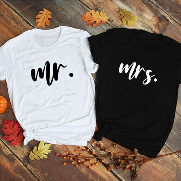 mr. mrs. - Partner T-Shirt Ladies and Gentlemen - 2 Pieces - Couple Shirt Gift Set for Lovers - Partner Gifts - Best Birthday Gift - Partner Look – Bild 3