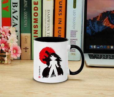 Red Sun Goku - Cup coffee pot Gift Son Ruffy Luffy Zoro Saitama One Dragon Master Goku Ball Vegeta Roshi Piece Db – Bild 2