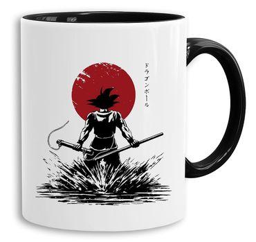 Red Sun Goku Back - Cup coffee pot Gift Son Ruffy Luffy Zoro Saitama One Dragon Master Goku Ball Vegeta Roshi Piece Db – Bild 1