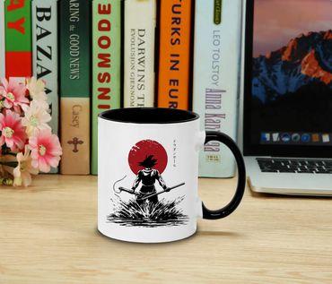 Red Sun Goku Back - Cup coffee pot Gift Son Ruffy Luffy Zoro Saitama One Dragon Master Goku Ball Vegeta Roshi Piece Db – Bild 2