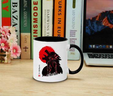 Red Sun Goku Side - Cup coffee pot Gift Son Ruffy Luffy Zoro Saitama One Dragon Master Goku Ball Vegeta Roshi Piece Db – Bild 2