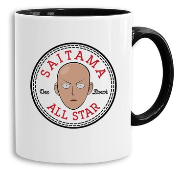 All Saitama Star -  Cup coffee pot Gift Son One Punch Luffy Naruto Saitama One Dragon Goku Ball Piece Man Db – Bild 1