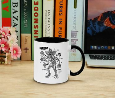 Stranger Demo Anatomie - Tasse Kaffeetasse Things Demogorgon Elfie Dustin Jane Hopper Upside Down tv blu-ray dvd  – Bild 2
