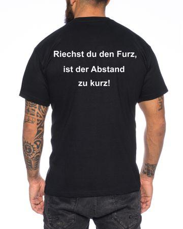T-Shirt Riechst du den Furz ist der Abstand zu kurz Distanz Halten spruch spass