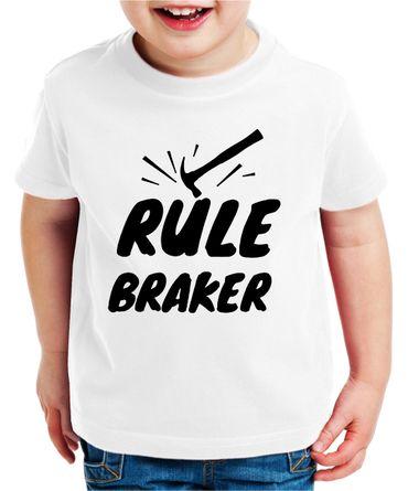 Rule Maker Braker - Partner - T-Shirt Vater Sohn Papa Kind Baby Strampler Body – Perfektes Geschenk – Partnerlook  – Bild 5
