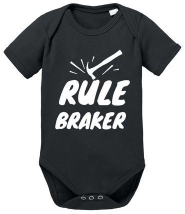 Rule Maker Braker - Partner - T-Shirt Vater Sohn Papa Kind Baby Strampler Body – Perfektes Geschenk – Partnerlook  – Bild 6