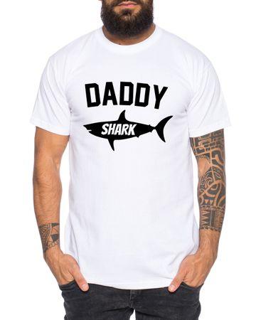 Daddy Shark - Partner - T-Shirt Vater Sohn Papa Kind Baby Strampler Body – Perfektes Geschenk – Partnerlook  – Bild 3