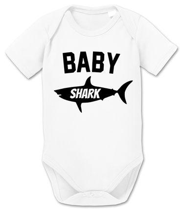 Daddy Shark - Partner - T-Shirt Vater Sohn Papa Kind Baby Strampler Body – Perfektes Geschenk – Partnerlook  – Bild 7