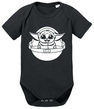 Mandalorian Yoda - Partner - T-Shirt Papa Vater Sohn Kind Baby Strampler Body – Perfektes Geschenk – Partnerlook  – Bild 6