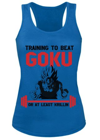 Train to beat Goku Damen Tank Top – Bild 2