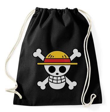 Ruffy Straw Hat Logo Gym Bag Turnbeutel