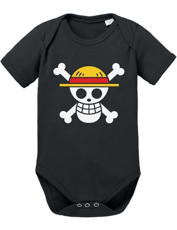 Ruffy Straw Hat Logo Baby Body