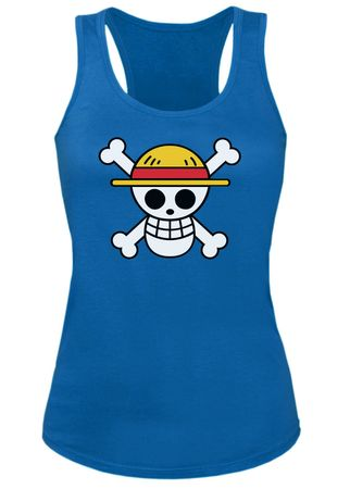 Ruffy Straw Hat Logo Damen Tank Top – Bild 3