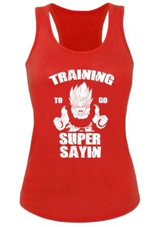 Train Super Sayin Damen Tank Top – Bild 4