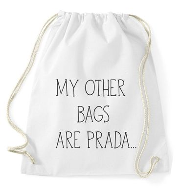 My Other Bags Are Prada Gym Bag Turnbeutel – Bild 2