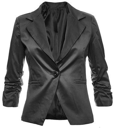 3/4 sleeve women blazer