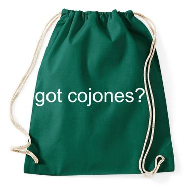 Got Cojones Gym Bag Turnbeutel – Bild 2