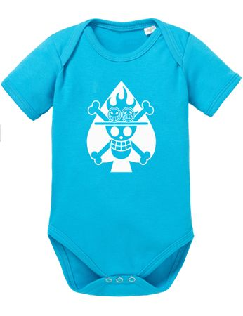 One Piece Ace Skull Fire Baby Body – Bild 2