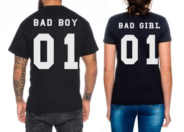 Bad Boy Bad Girl Partner Look Pärchen T-Shirt Set – Bild 1