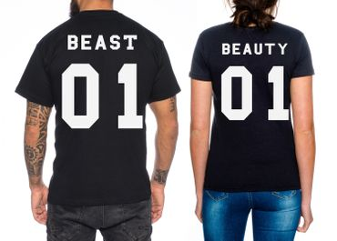 Beast Beauty Partner Look Pärchen T-Shirt Set – Bild 1