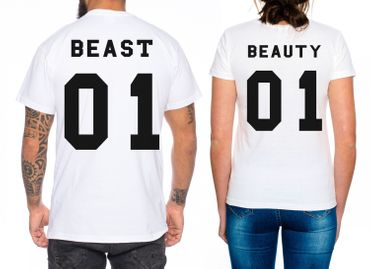 Beast Beauty Partner Look Pärchen T-Shirt Set – Bild 2