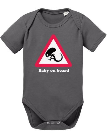 Alien Baby on Board Baby Strampler Body – Bild 1