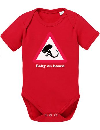 Alien Baby on Board Baby Strampler Body – Bild 4