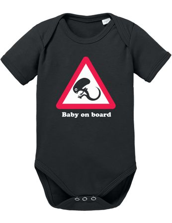 Alien Baby on Board Baby Body – Bild 5