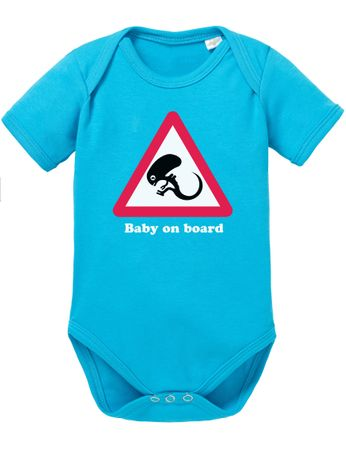 Alien Baby on Board Baby Body – Bild 6