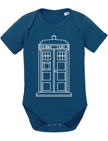 Doctor Line Who Box time police space dr tv Baby Body – Bild 3
