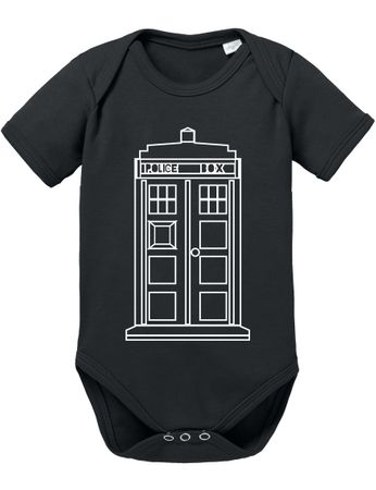 Doctor Line Who Box time police space dr tv Baby Body – Bild 1