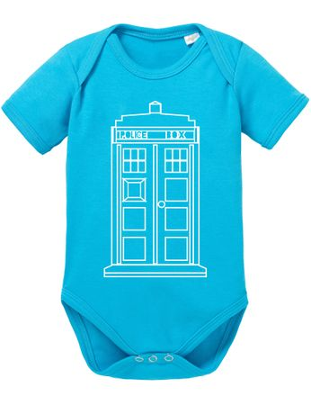Doctor Line Who Box time police space dr tv Baby Body – Bild 6