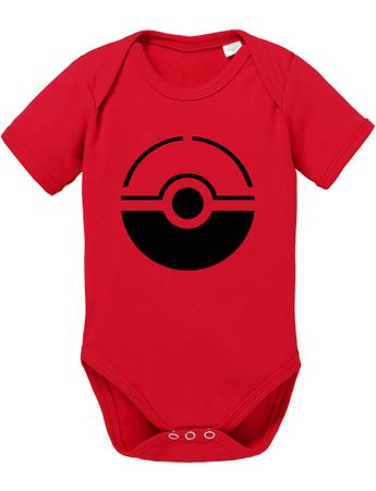 Anime Manga Cartoon Fun Nerd Pokeball Baby Strampler Body – Bild 2