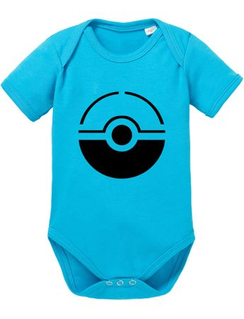 Anime Manga Cartoon Fun Nerd Pokeball Baby Strampler Body – Bild 1
